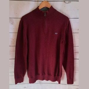 VINEYARD VINES Crimson Cotton Sweater Size Large